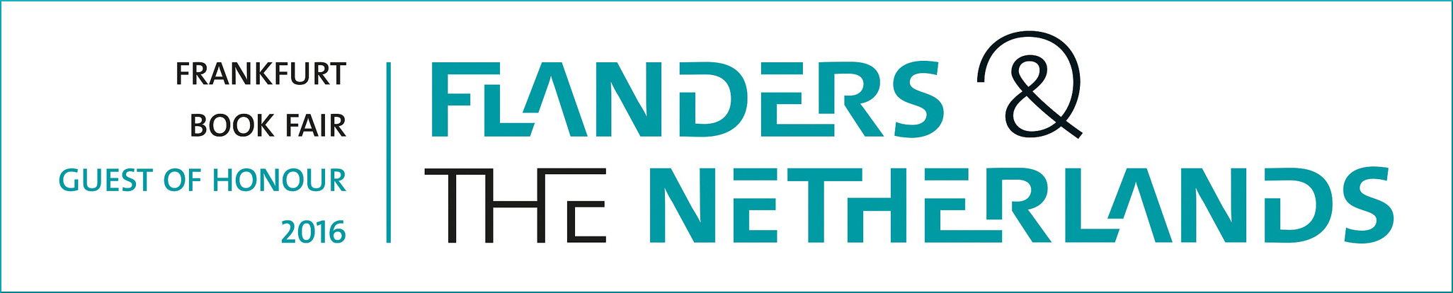 The logo of the guests of honour at the Frankfurt Book Fair 2016: the Netherlands & Flanders
