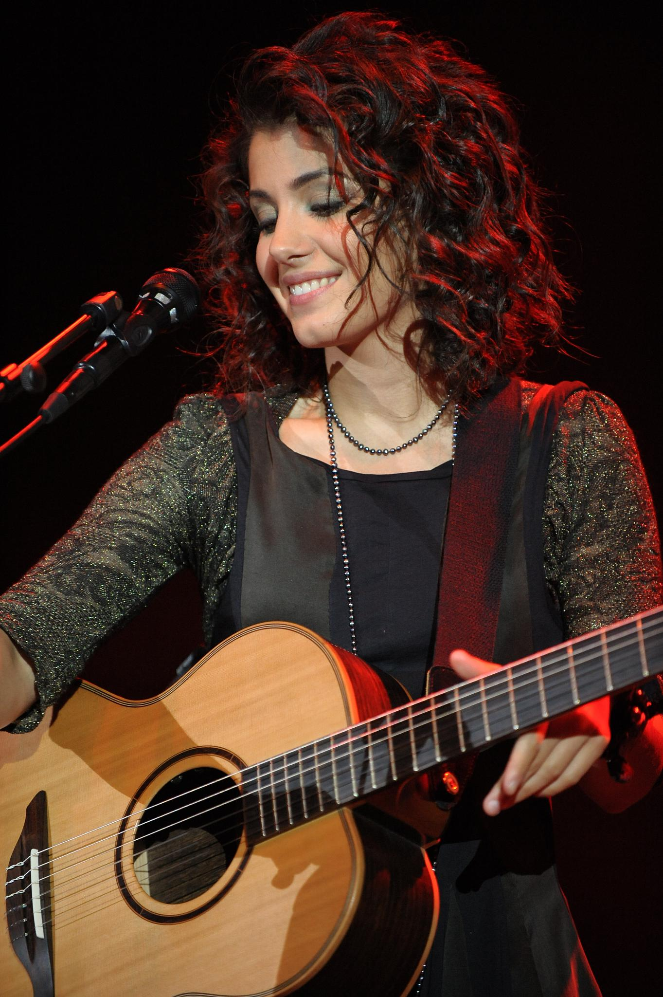 The Georgian-British singer Katie Melua during a concert in the Arena Trier (Germany) on 12.08.2008
