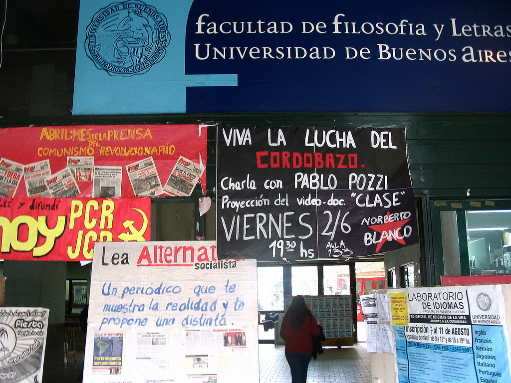 Entrance of the Faculty of Arts and Humanities, University of Buenos Aires (2006).