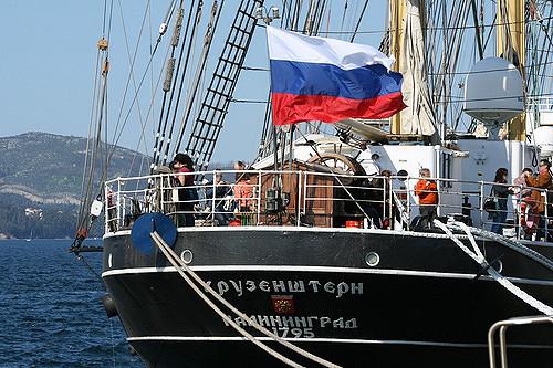 Die Krusenstern, Segelschulschiff der russischen Ausbildungsflotte (2009)