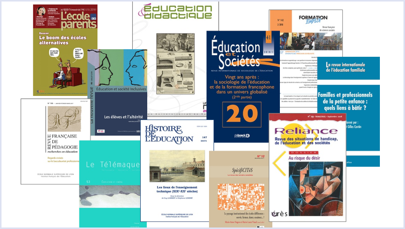Cover of French journals in educational research.