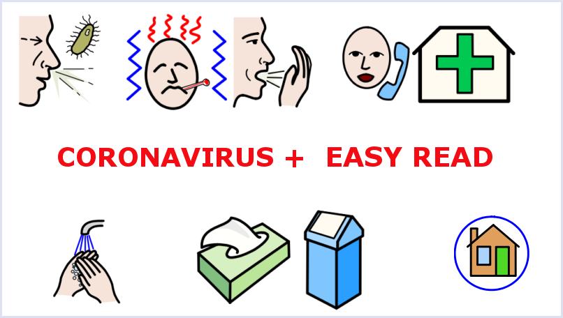 Man kann sich schnell mit dem Coronavirus anstecken. Bilder erklären, wie man sich verhalten muss.
