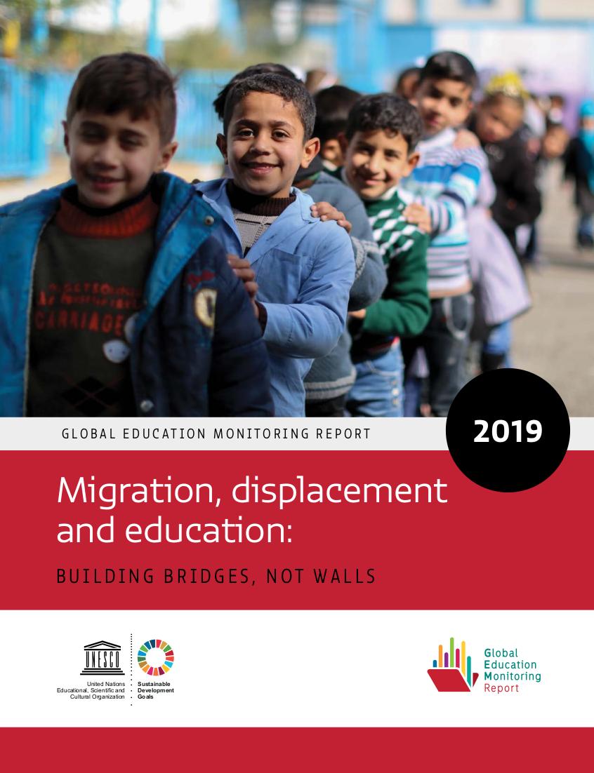 Cover des UNESCO-Weltbildungsberichts 2019 zu Flucht und Migration