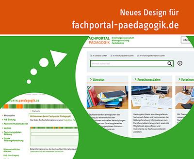 Sharepic zum Relaunch des Fachportal Pädagogik