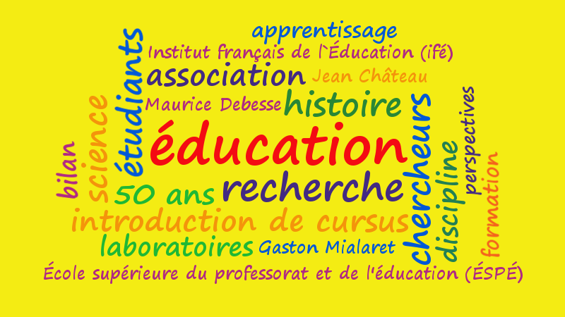 tagcloud with French termes in educational research in France